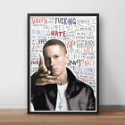 Eminem / Slim Shady INSPIRED WALL ART Print / Poster A4 A3 HIP HOP / Rapper