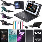 """US For 9.7"""" 10"""" 10.1"""" Android / Windows Tablets PU Leather Keyboard Cover Case"""