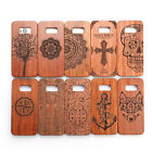 Pure Wood Pattern Shockproof PC Bumper Cover Case For Samsung Galaxy S8/ S8 Plus