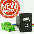 "Toyota Landcruiser 200 series Switches ""HIGH QUALITY FINISH"" Green LED lit"