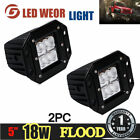 2pcs Dually Flush Mount 24W CREE Flood LED Light Pod Ford For Jeep 4X4 Off-Road