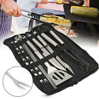 18 Piece BBQ Tools Set Kit Case Stainless Steel Grill Cooking Outdoor Utensils