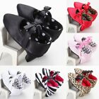 high sole shoes - Newborn Baby Girls High Heels Soft Sole Toddler Bow Leopard Princess Crib Shoes