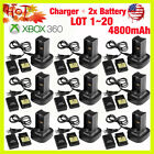 Dual Battery Charger Station Dock+2x Battery For Xbox 360...