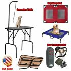 Heavy Duty Portable Pet Dog Grooming Table Sleeping Bed 4 IN 1 Trainning Collor