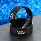 Couple Ring His Queen and Her King Stainless Steel Lover Engagement Promise Band