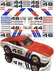 Bre Datsun water-slide decals 1:64,  1:32,  1:24 scale model car