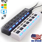 multi port hub - USA 7-Port USB 2.0 Multi Charger Hub +High Speed Adapter ON/OFF Switch Laptop PC
