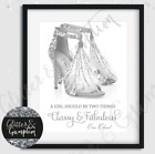 Silver Ostrich Feather Jimmy Choo Coco Chanel Quote Print quote designs print