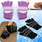 5V USB Powered Heating Heated Cold Winter Hand Finger Warmer Gloves Washable US