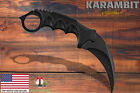 Tactical Combat Karambit Knife Fixed Blade Neck Survival Hunting Bowie Full Tang <br/> U.S. Stock Brand New 7 Different Colors 7.5&quot; Karambit