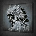 NATIVE AMERICAN APACHE CANVAS PICTURE PRINT WALL ART FREE FAST UK DELIVERY