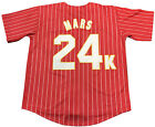 US SELLER Bruno Mars 24K Hooligans Baseball Jersey Men's White Red Black