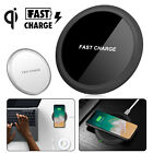 Qi Wireless Charger Slim Pad Mat Aluminum for iPhone X 8 Note 8 S7 Edge S8 Plus