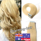 Seamless Tape in Skin Weft Real Remy Human Hair Extensions Medium Blonde AUStock