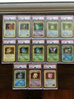 PSA 8 Pokemon Card Lot Holos NM-Mint Rares New Style Cases