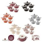 5pc NonStick Marble Coated Stockpot Casserole Cooking Pot INDUCTION Cookware Set