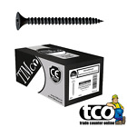 Timco Phillips Fine Thread Black Drywall Screws for Plasterboard | All Sizes