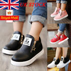 UK Boys Girls Ankle Boots Stars Zipper Flat Child Kids Unisex Martin Shoes Size