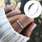 Mother Father Mom Dad Letter Engraved Fashion Simple Silver Finger Rings Jewelry