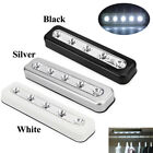 1pc AAA Battery Operated Cordless Touch Sensor Under Cabinet 5LED Wall Light Bar