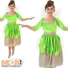 Green Pixie Girls Fancy Dress Fairy Tale Book Day Childrens Kids Costume w/sound