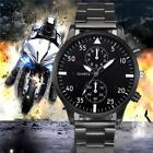 Men's Crystal Luxury Stainless Steel Band Quartz Sport Dial Wrist Watch Watches image