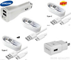 Original Samsung Galaxy S8 S8plus Note 8 Adaptive Fast OEM + Car Charger+Type -C