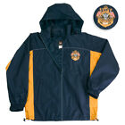 NAVY WIND BREAKER BLUE AND YELLOW  Brand New