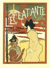 Vintage French Art Nouveau Shabby Chic Advertising Poster Print A3 A4