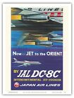 Jet to the Orient - Japan Air Lines (JAL) - 1958 Vintage Travel Poster Print