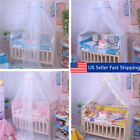White Round Dome Baby Infant Mosquito Net Toddler Bed Crib Canopy Play Tents US