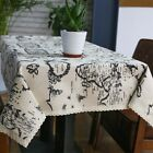 Table Linen Country Style Map Printed Cloth Napkins Cotton Square Home New Decor