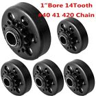 """LOT 1~10pc GO Kart Centrifugal Clutch 1"""" 14 Tooth for 40-41-420 Chain 13hp BP"""