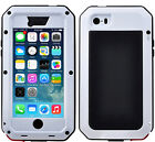 For iPhone 5s SE Rugged Aluminum Metal Hybrid Glass Shockproof Case Cover