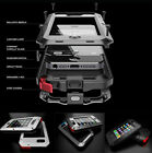 For iPhone 5s SE 5c Rugged Aluminum Metal Hybrid Glass Shockproof Case Cover