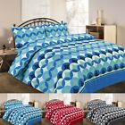 Reversible Duvet Cover Set With Pillowcases Size Single Double King Super Grant
