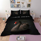 3D Black Swan 67 Bed Pillowcases Quilt Duvet Cover Set Single Queen AU Carly