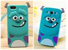 s4 mini model no - COVER silicone cartoons Sulley 3d for models SAMSUNG GALAXY iphone plus