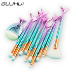 Makeup 11pcs Mermaid Brushes Set Fish Tail Foundation Eyeshadow Cosmetic Brush