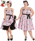 HELL BUNNY KEEPSAKE alchemy SUGAR SKULL alchemy PINK 50s style DRESS XS-4XL