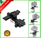 "Aluminum 4 Way Macro Focusing Rail Slider for Film Digtal Camera 1/4"" Screw Hole"