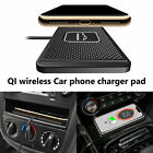 Qi Wireless Car Phone Charger Fast Charging Pad Non-Slip Mount For Smartphone US