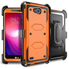 For LG Fiesta 2 LTE/ X Charge/X Power 2/3 Phone Case+TEMPERED GLASS Cover Combat