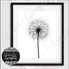 Fashion art beautiful SIMPLSTIC DANDELION print beauty room OFFICE Art
