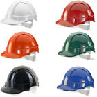 Economy Vented Safety Work Helmet Hard Hat Construction Builders - Colours
