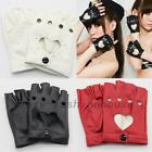 NIce Half Finger PU Leather Gloves Ladys Fingerless Driving Show Pole Dance New