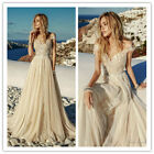 Champagne Wedding Dresses Bridal Gown Custom Sweetheart Neck Top Lace Vintage