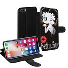 Betty Boop Printed PU Leather Stand Wallet Case for Apple iPhone Models - 0010 $15.38 USD