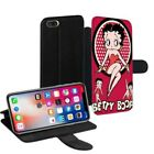 Betty Boop Printed PU Leather Stand Wallet Case for Apple iPhone Models - 0009 $23.63 AUD